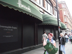 With my purchases from Harrods